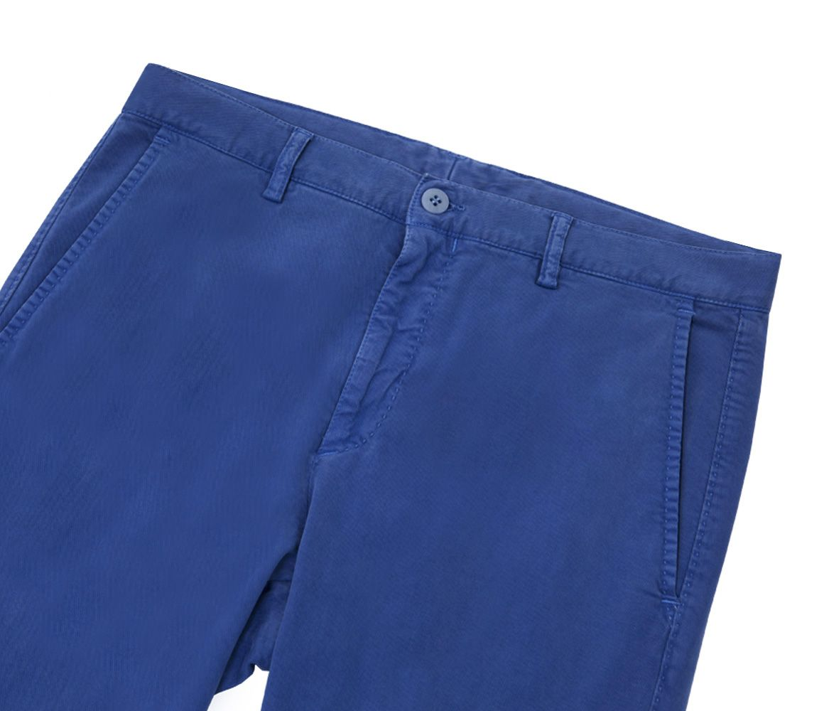 Indigo Cotton And Wool Shorts Anderson & Sheppard qVtX51d