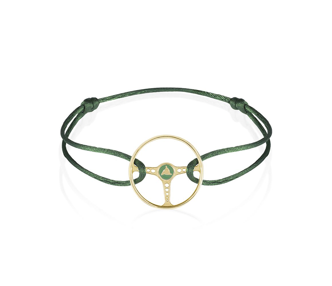the green at shot steering mechanists wheel screen bracelet racing