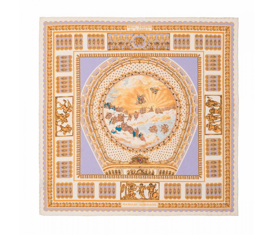 Lilac And Gold Teatro San Carlo Silk Pocket Handkerchief Rubinacci 3whiy5T