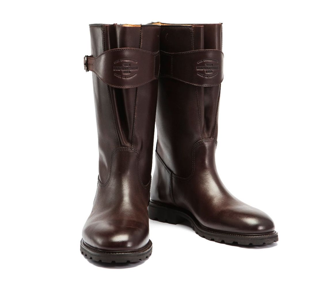 Particular Discount Dark Brown Traktorstiefel Pull-Up Leather Boots Ludwig Reiter Cheap Sale New Styles CUnSgOD9ja