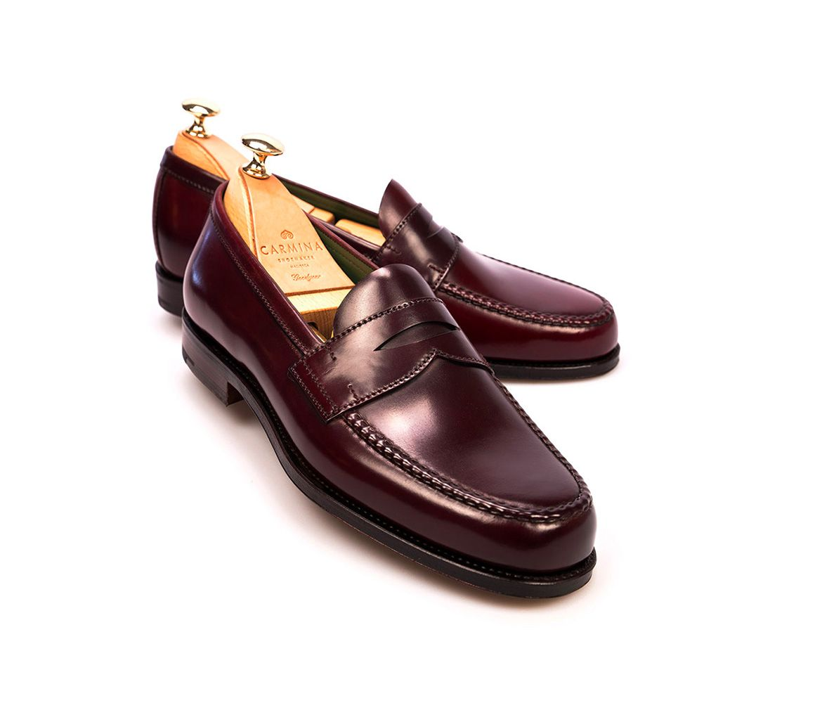 Buy Cheap Best Burgundy Cordovan Leather Penny Loafers Carmina Shoemaker Outlet Best Wholesale Cheap Sale 2018 New Outlet For Sale Visit New Sale Online 54jf48cK