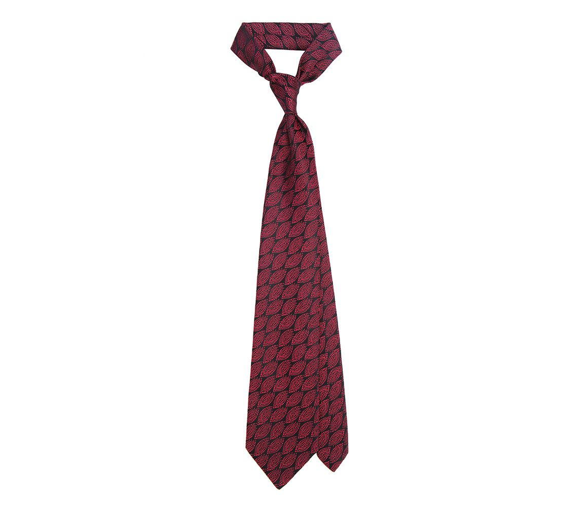 Black and Burgundy Abstract Oval Archive Silk Tie Charvet awM6h2cwL