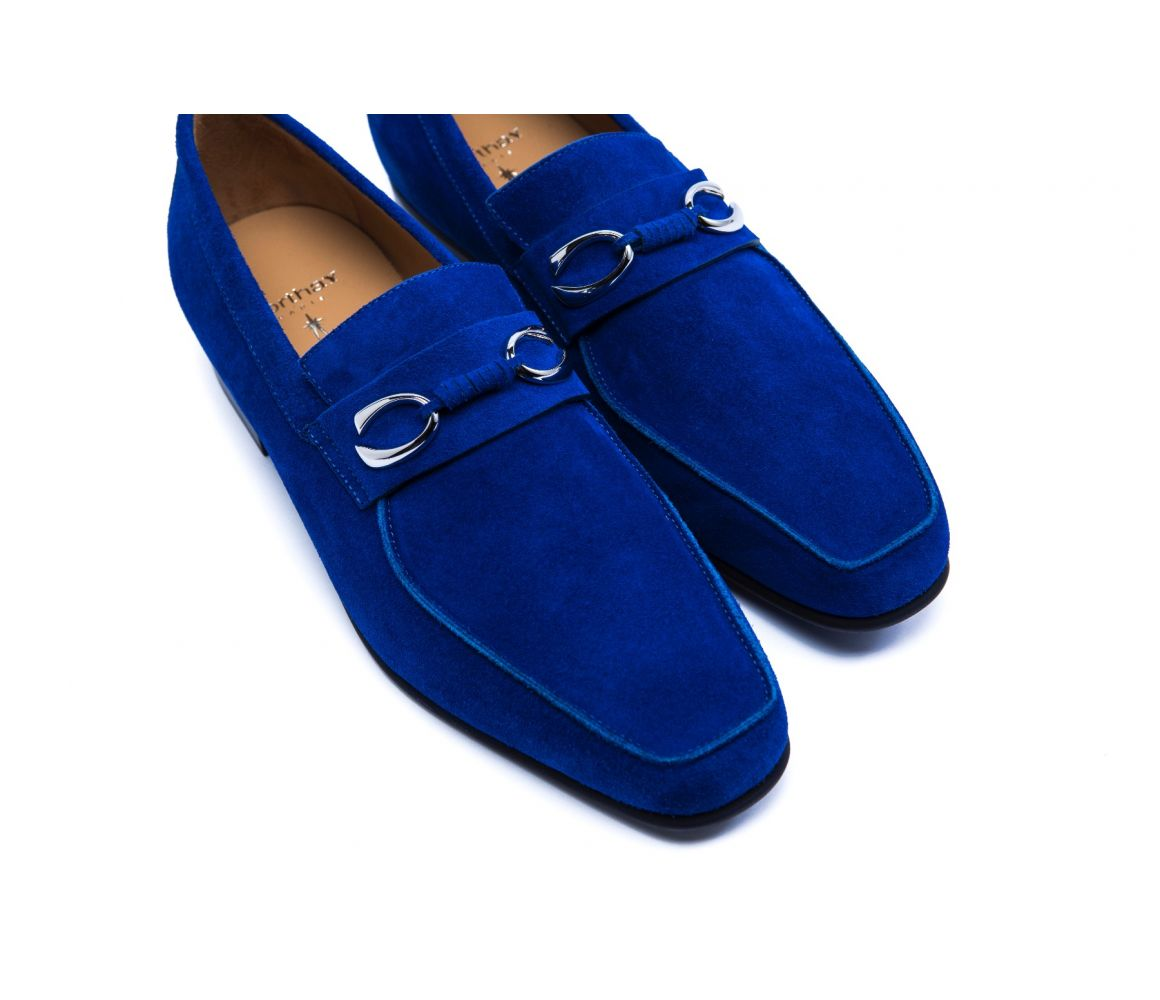 Blue Suede Horse Bit Loafers Corthay Discount Sast Cheap Sale 100% Original Store Sale Online Many Kinds Of Cheap Price Buy Cheap 2018 syfmNXxVgx