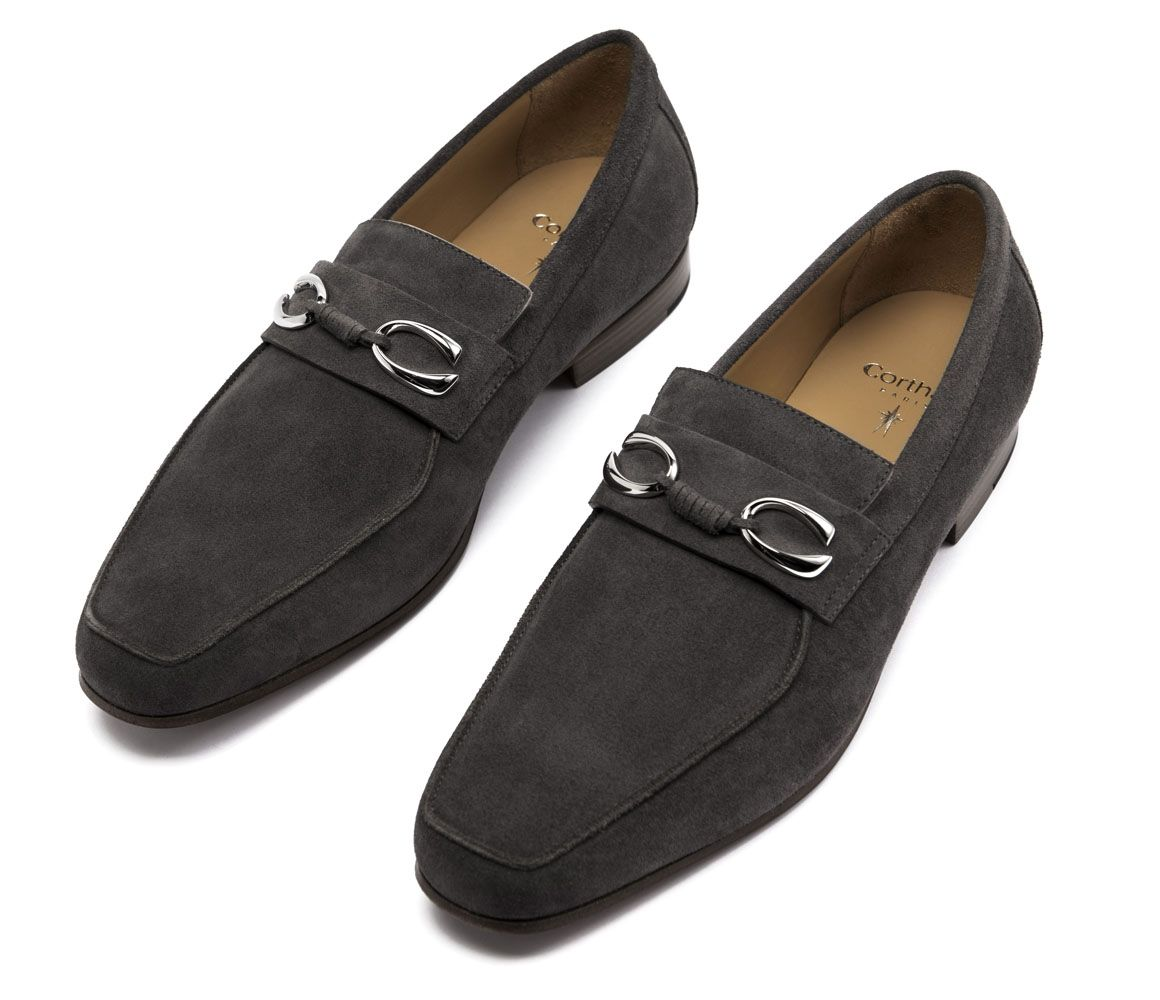 Grey Suede Horse Bit Loafers Corthay 3C8xFE9