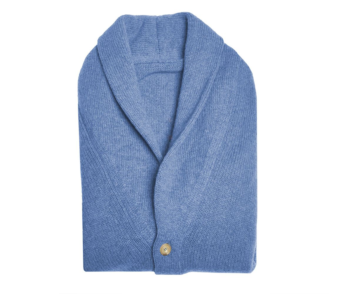 Browse Cheap Price Blue Shawl Collar Lambswool Cardigan Anderson & Sheppard Low Shipping Authentic Cheap Newest Free Shipping Discount pTGuvXaza