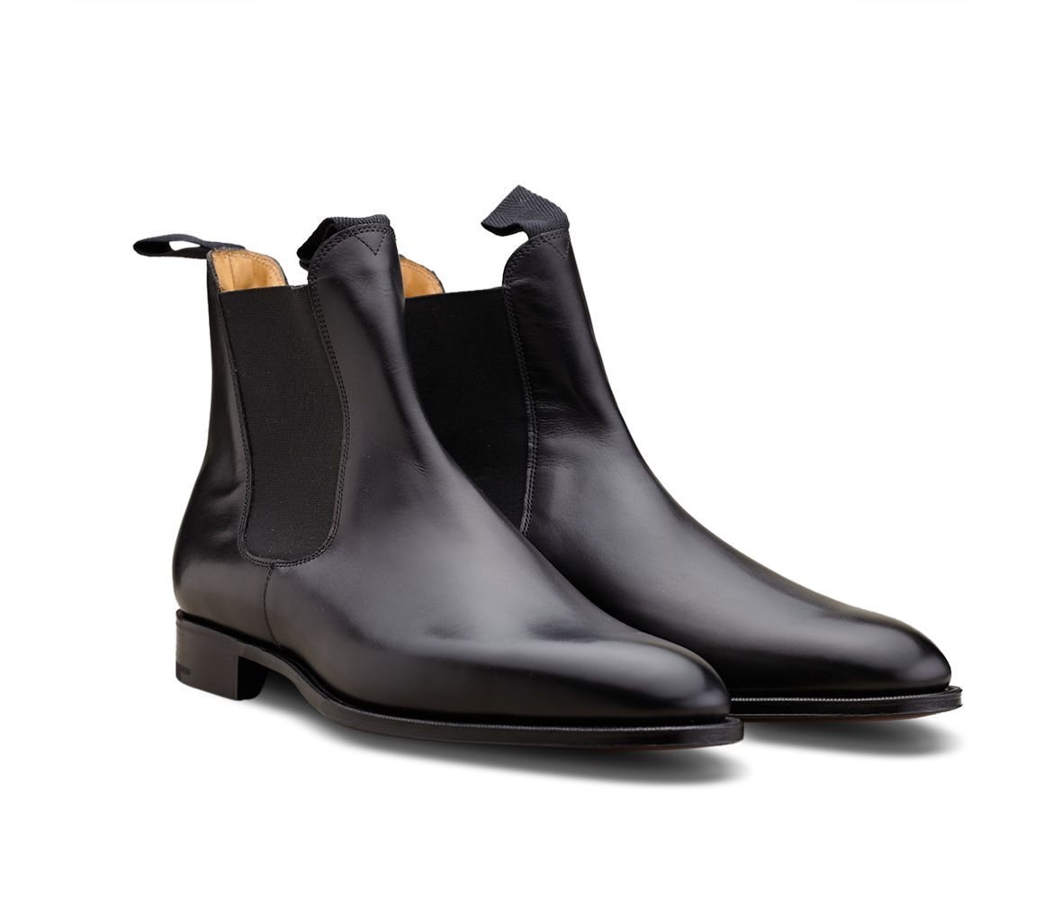 Lowest Price Black Newmarket Leather Chelsea Boots Edward Green Sale Pick A Best Cost Sale Online Cheap Usa Stockist For Sale Online ldIaS6