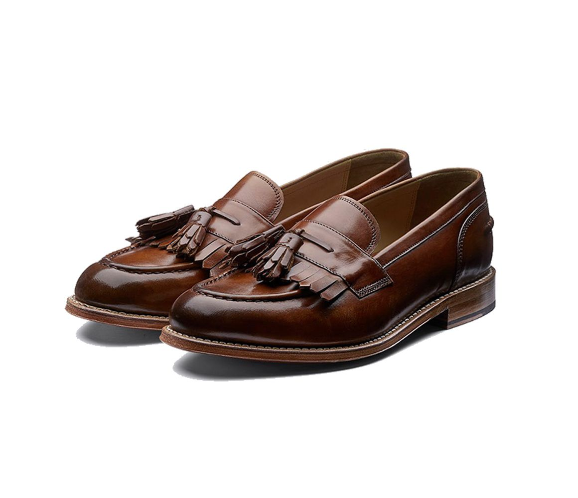 Mackenzie Tassel Loafers In Tan - Tan Grenson