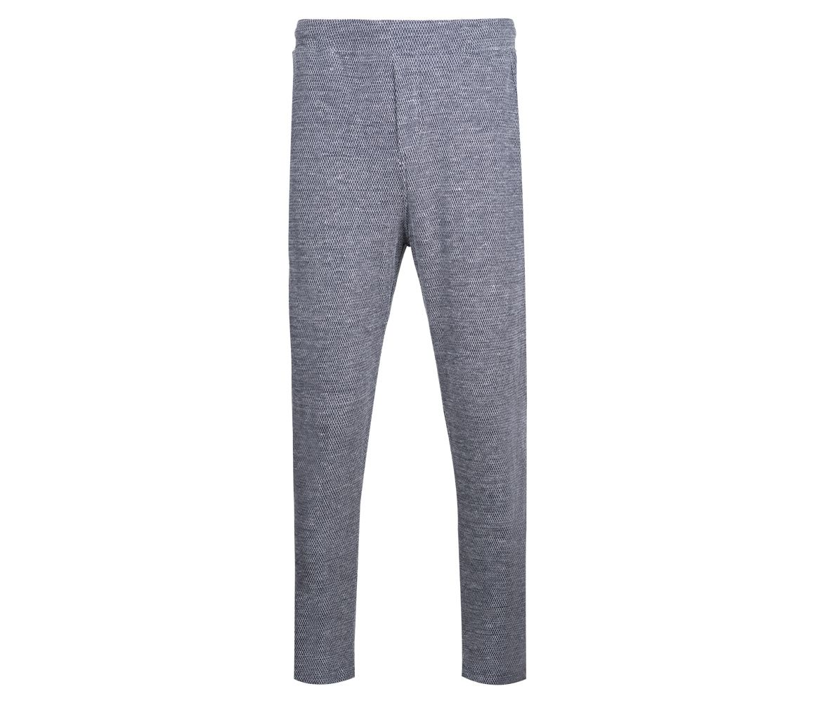 Grey and Navy Cotton and Linen Timeout Trousers Hamilton & Hare Gk7SKFTwQH