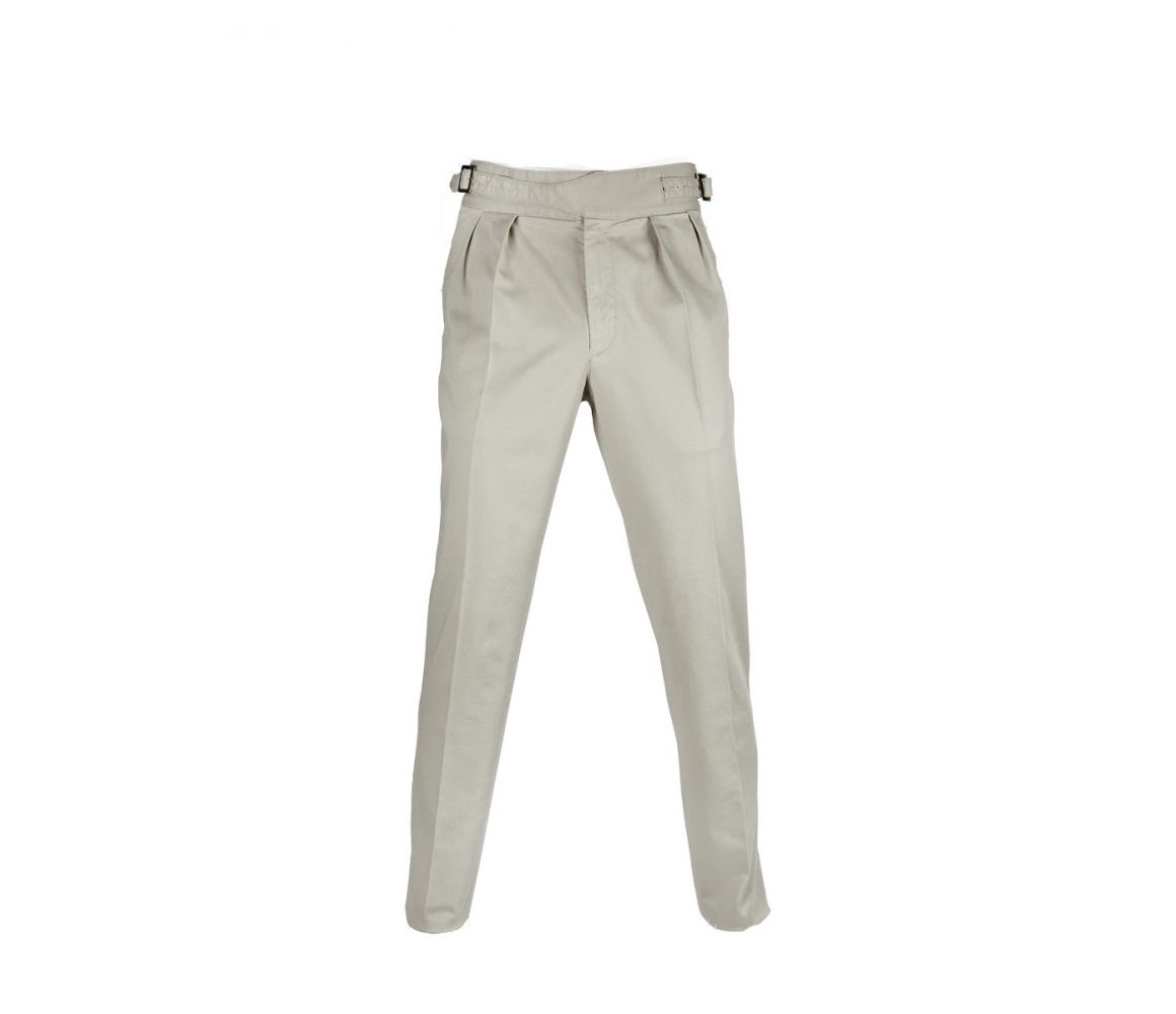 White Manny Pleated Cotton Trousers Rubinacci 8xy0pfb
