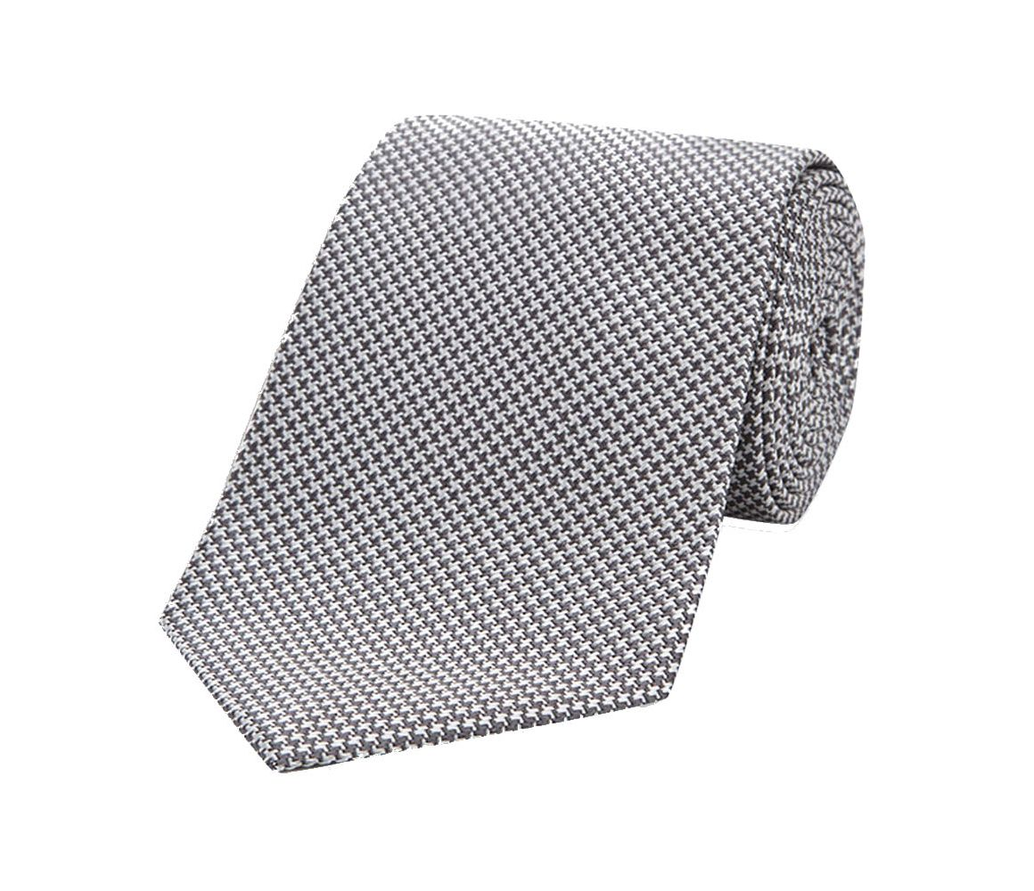 Grey Houndstooth Silk Tie Turnbull & Asser XqzF29iY0