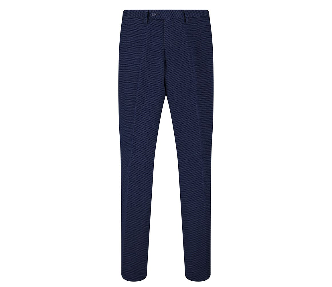 Navy Churton Textured Cotton and Linen Chinos New & Lingwood luAKju