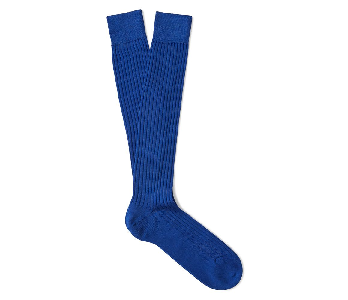 Outlet Inexpensive Cheap Sale Real Royal Blue Ribbed Cotton Long Socks New & Lingwood Cheap Sale Footaction Cheap Factory Outlet 1WLdozw