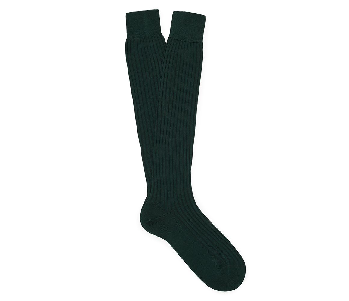 Turquoise Blue Ribbed Cotton Long Socks New & Lingwood Collections Cheap Price ldUQW9