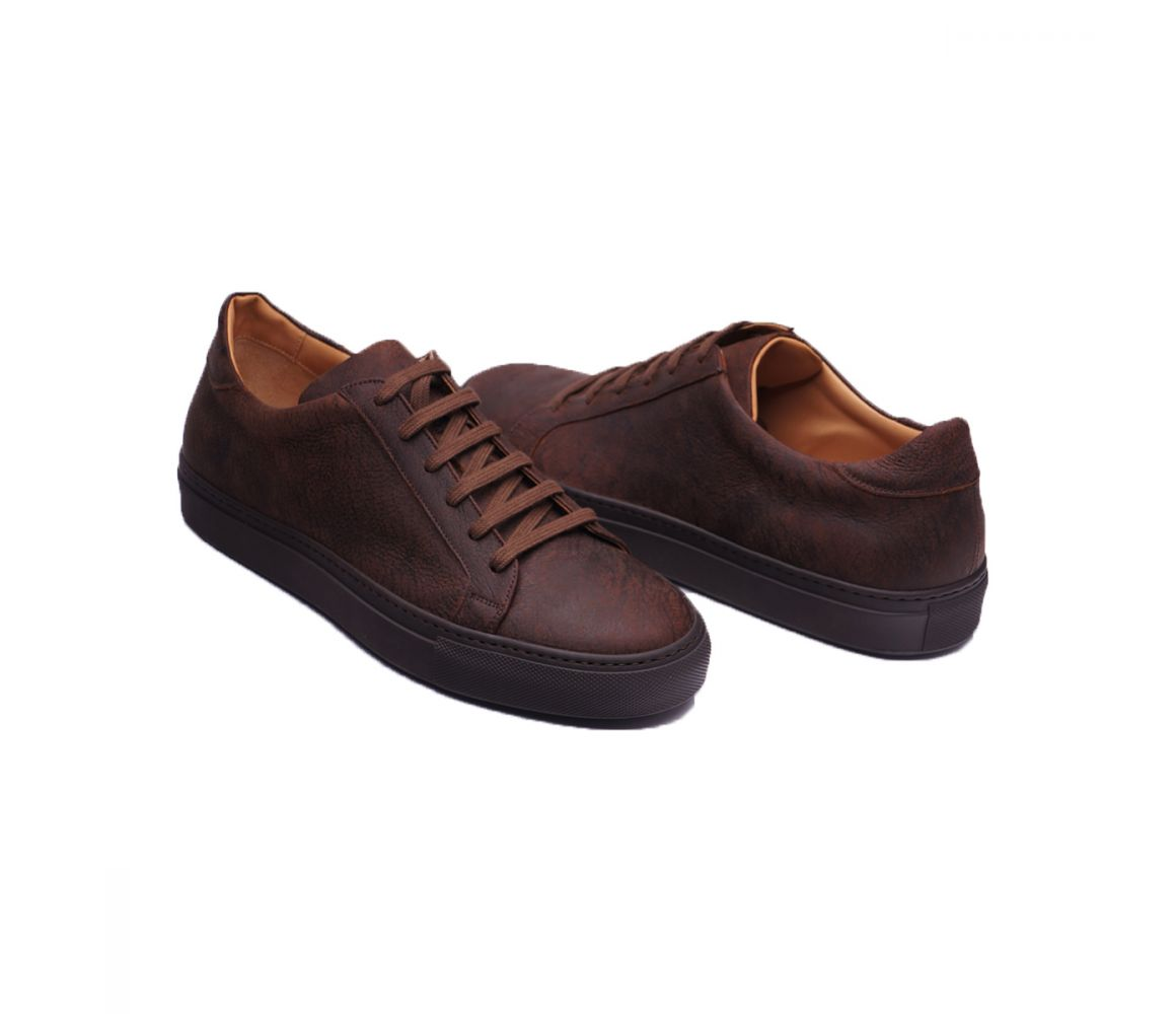 Snuff Brown Kudu Leather Sneakers Stefano Bemer New Arrival For Sale Best Authentic Recommend Sale Online Buy Cheap Extremely Sale Original WUYAGCv