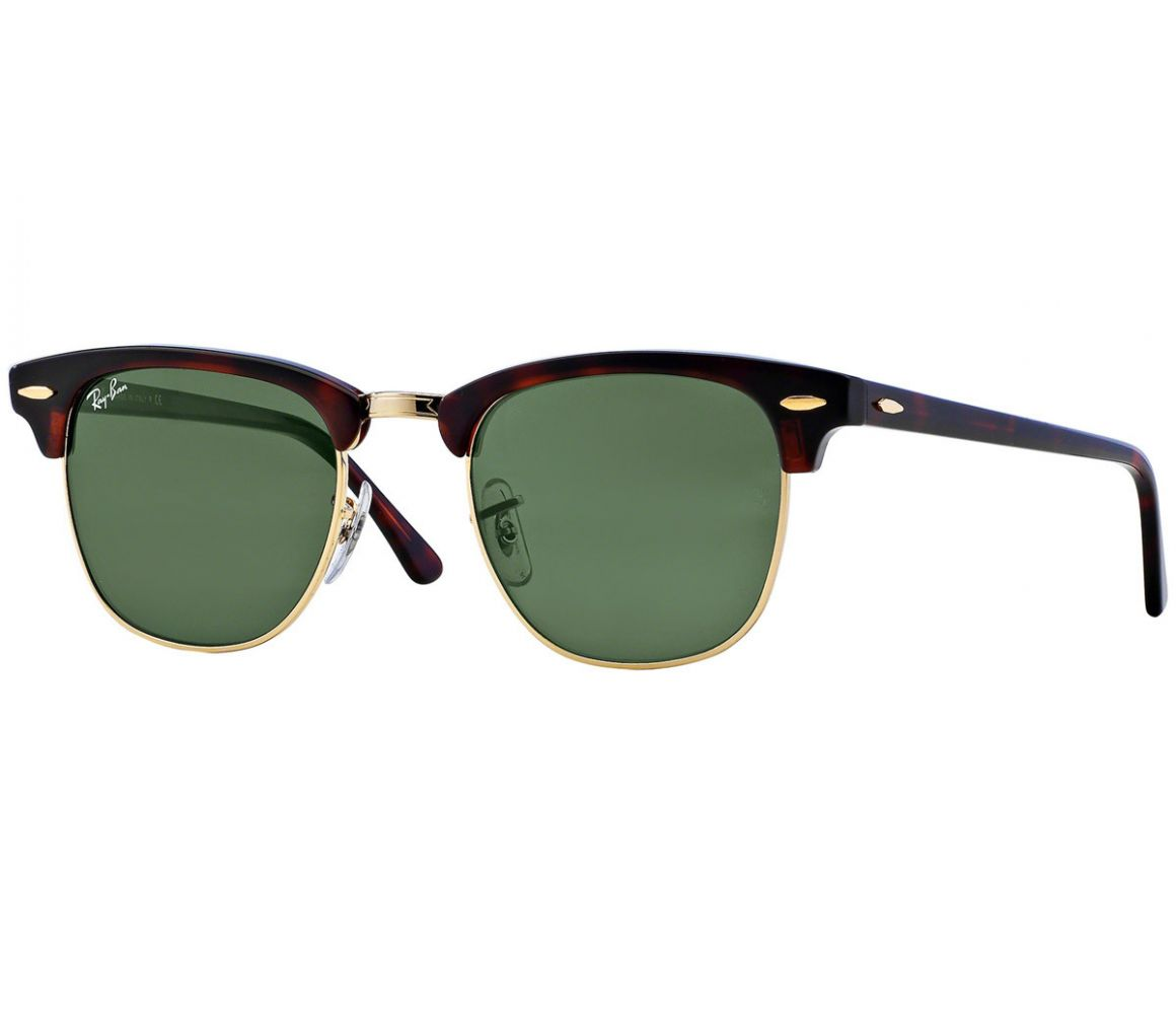 Clubmaster Classic RB3016 W0366 Tortiseshell with Green Lenses ...