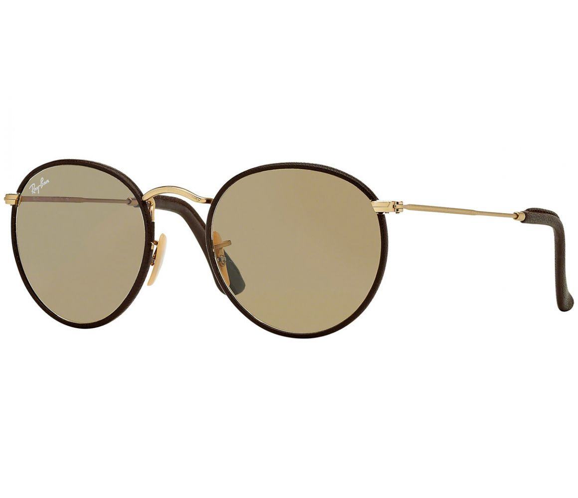 Round Craft RB3475Q 112/53 Brown Leather and Gold Frame with Brown ...