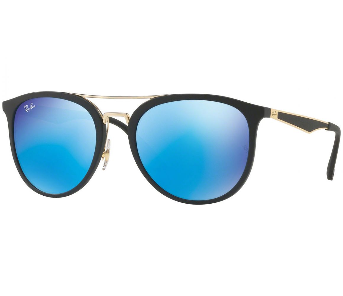 RB4285 601S55 Black and Gold Frames with Gradient Blue Lenses ...