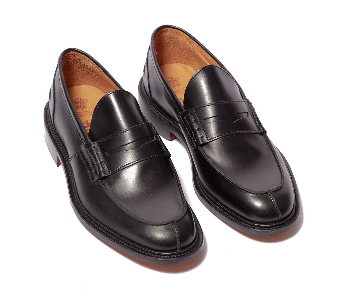 James Black Calf Leather Loafers Trickers Xz2RGl