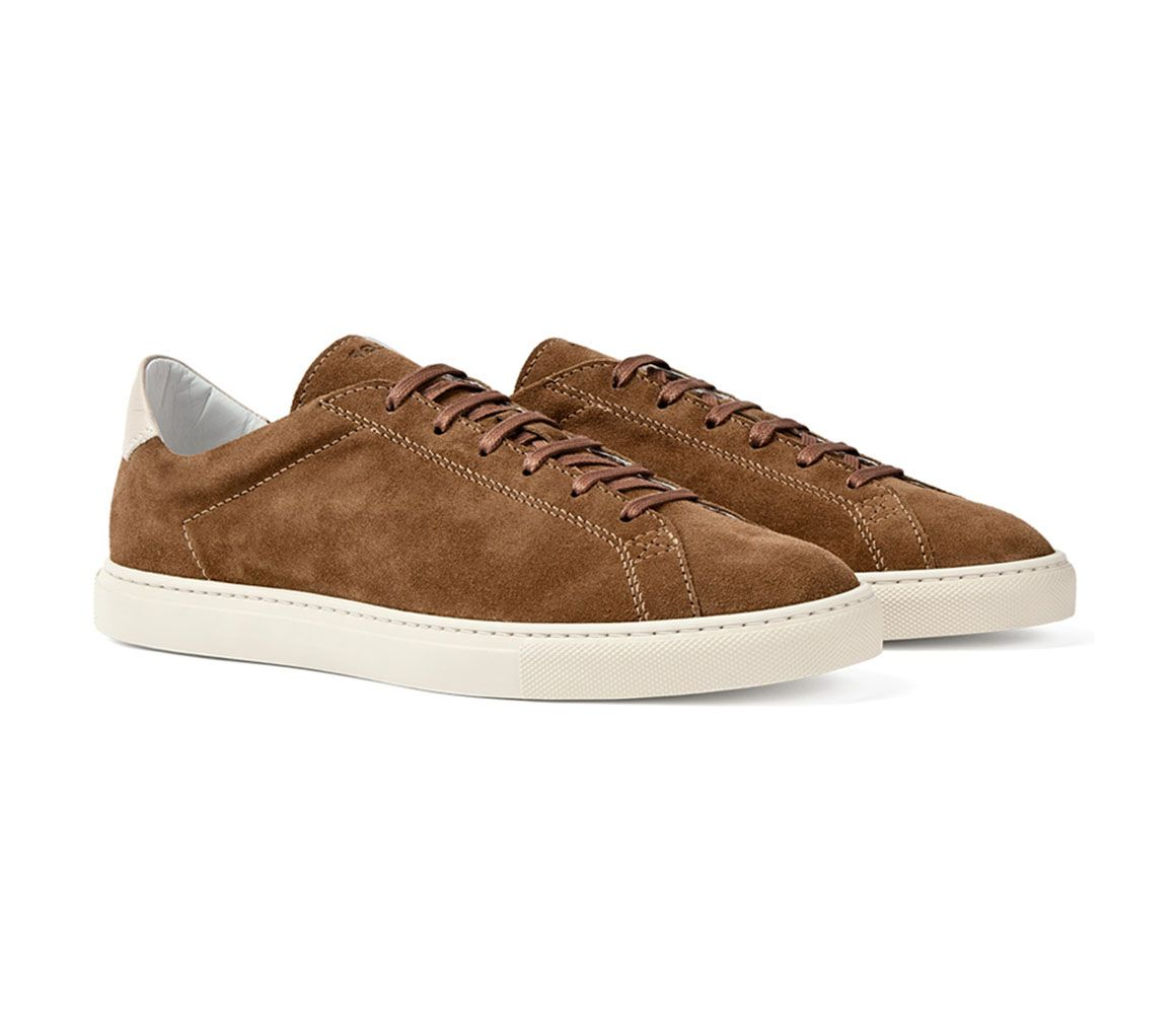 Brown Suede Racquet Sneakers C.QP