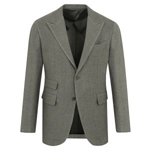 d7291f1b81 Camoshita United Arrows. Olive Silk and Linen Single-Breasted Jacket