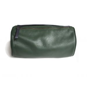 867ef93cee0 Mess of Blues. Pine Green Leather Wash Bag ...