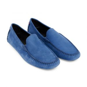 776ead0ac0b863 Cobalt Blue Nubuck Leather Officina Driving Loafers