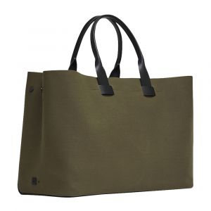ccb75af70 Khaki Waterproof Fabric and Leather Adventure Troubadour Tote