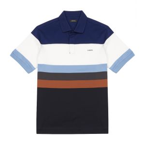 a5d3898fdff Multi Striped Cotton Polo Shirt