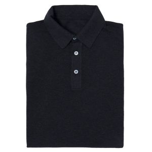 dd1b853eb724cc Anderson & Sheppard. Charcoal Short Sleeve Cotton Polo Shirt