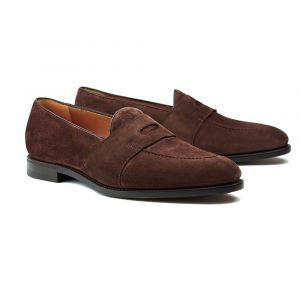0705d5075450d Barbanera Brown Woven Leather Schifano Penny Loafers | The Rake