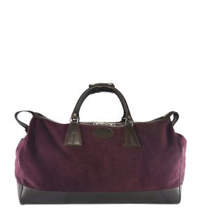 539490e15 Burgundy Piccadilly Suede Weekend Bag