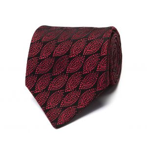 21f6d7d50629 Charvet. Black and Burgundy Abstract Oval Archive Silk Tie