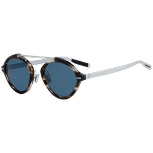 18b8cf149f1 Dior Homme. Dior System Tortoiseshell and Silver Frames with Blue Lenses  Sunglasses ...