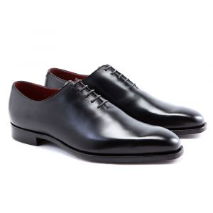 1f47e0c607930e George Cleverley. Dark Brown Leather Alan Wholecut Shoes.   750. Black  James Calf Leather Oxfords