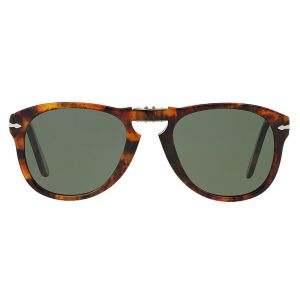 b810863b64 Persol. Icons PO0714 108 58 Folding Caffe with Crystal Green Lenses  Sunglasses