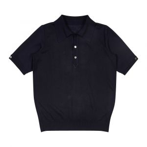 24f045b3a Navy Japanese Serie-Knit Polo