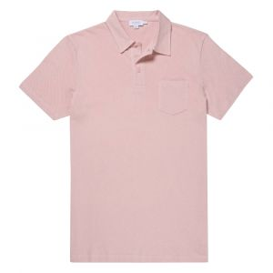 60df4b6afd748 Pale Pink Short Sleeve Riviera Polo Shirt