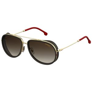 9ac24a905d Black and Gold Side Shield Pilot Frames with Black Lenses Sunglasses 166 S  Y11