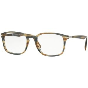 8dbb07a67798 Grey and Brown Grain Pattern Frames with Clear Lenses Eyewear PO3161V 1049