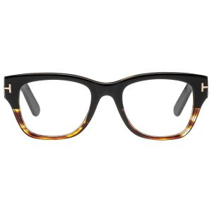ee5ed93875 Black and Tortoiseshell Square Frames with Clear Lenses Eyewear FT5379 005