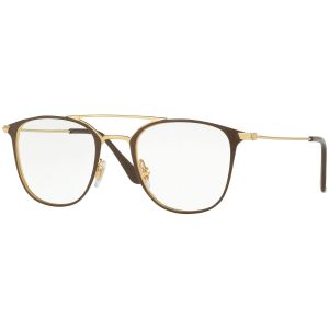 4f5ba27a7ba9 Brown and Gold Frames with Clear Lenses Eyewear RX6377 2905