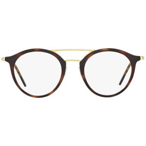 3fa48ced5a Brown and Gold Double Bridge Frames with Clear Lenses Eyewear RX7097 2012