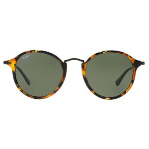 64f6d06735ac5 Ray-Ban Round Fleck RB2447 1157 Black and Orange Frames with Grey Lenses  Sunglasses   The Rake
