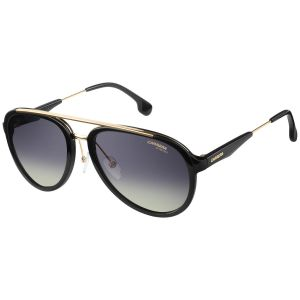 638fabd8b79 Black and Gold Double Bridge Pilot Frames with Grey Lenses Sunglasses 132 S  2M2