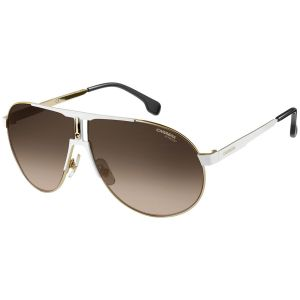 27adf7facc Carrera. White and Gold Frames with Black Lenses Sunglasses ...