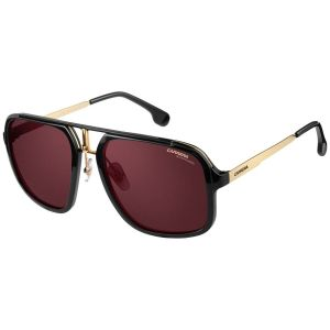 38298b8d239b Carrera. Black and Gold Frames with Polarized Red Lenses Sunglasses ...