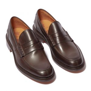 b0211d14fa0 Oak Street Bootmakers Natural Brown Leather Beefroll Penny Loafers ...