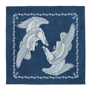 New Blue Bandana Bandanna Scarf with The Eagle Rose And Other Symbols Of America