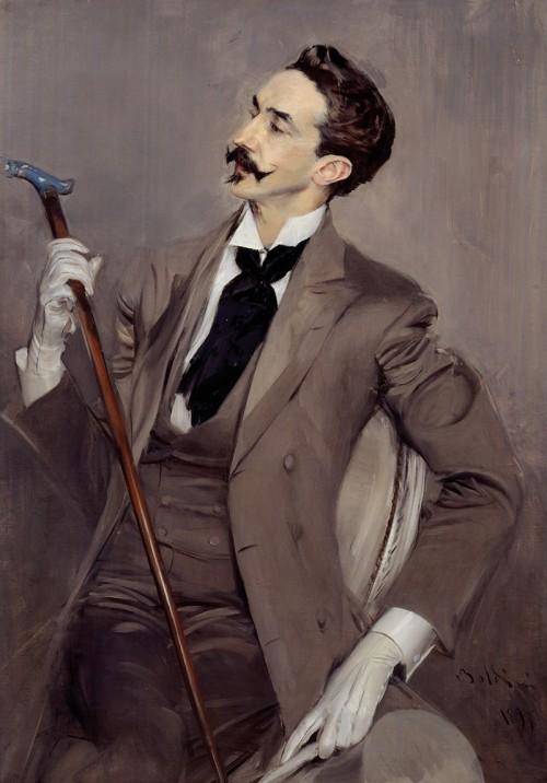 Robert de Montesquiou, Charvet shirt and tie, The Rake