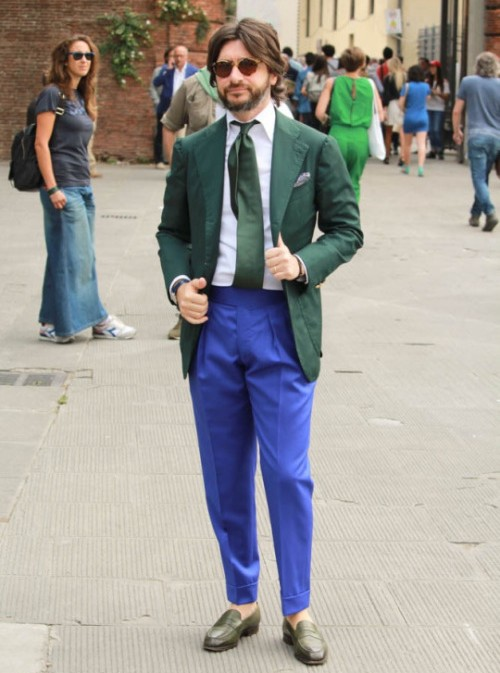 Nicola Ricci, tailored trousers, Pitti Uomo, The Rake magazine